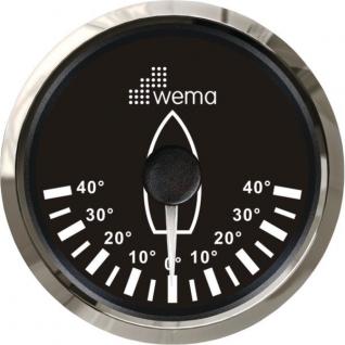 Wema Индикатор положения пера руля чёрный/серебряный Wema IRR-5-BS 0 - 180 Ом 12/24 В
