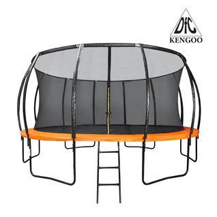 DFC Батут DFC KENGOO 16 футов (488 см) внутр.сетка, лестница, оранж/черн (3 кор)