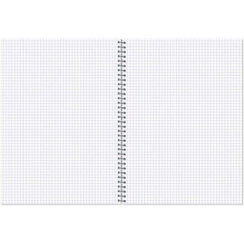 Тетрадь общая Attache,120л,клет,А5,спир,обл.лак.карт 37873908