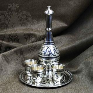 """Набор  водочный из серебра  """"Триада""""."""