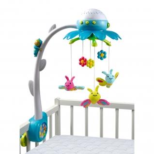 """Мобиль на детскую кроватку Cotoons """"Цветок"""" (звук, свет), синий Smoby"""