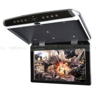"""Автомобильный потолочный монитор 17.3"""" со встроенным Full HD медиаплеером ERGO ER173FH (+ Двухканальные наушники в подарок!)"""