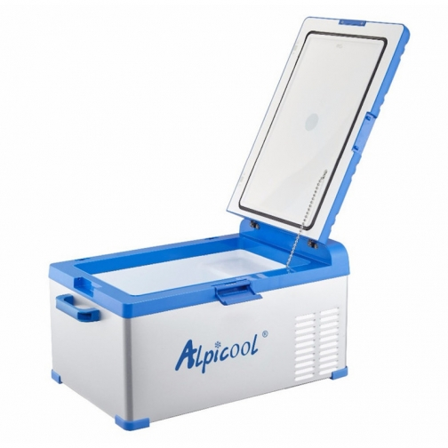Kомпрессорный автохолодильник ALPICOOL ABS-25 синий (30л, 12/24/220В) 36971684 3