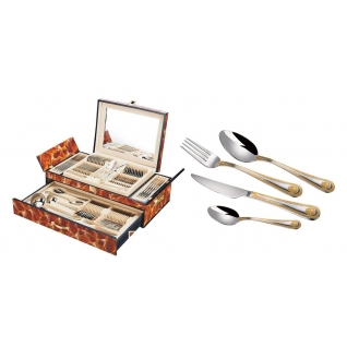 Столовый набор 72 предмета Hans Müller, Герб, коричневый мрамор