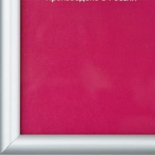 Рамка А3(30х42)ATTACHE серебро, алюминиевый багет, настенная