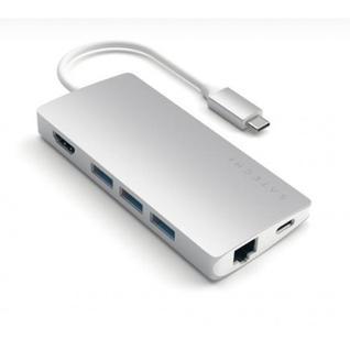 USB-концентратор Satechi Type-C Multi-Port Adapter 4K with Ethernet V2 ST-TCMA2S Silver (серебристый)