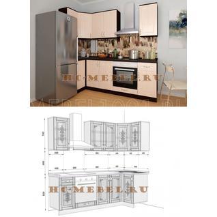 Кухня БЕЛАРУСЬ-8.7 модульная угловая, правая, левая
