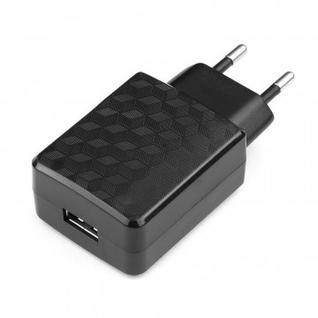 Зарядное устройство сетевое, 1 USB, 2А, Cablexpert, черный, MP3A-PC-06
