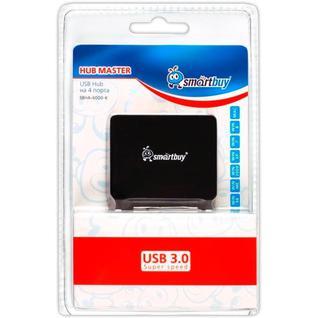 Разветвитель USB Smartbuy SBHA6000 USB 3.0 4 порта, черный