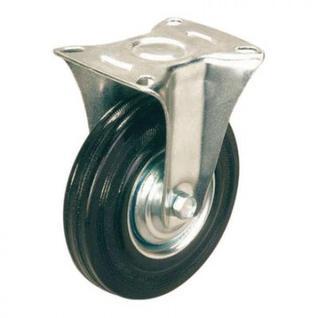 Колесо для тележки FC 200, непов, литая резина, без торм, 200мм