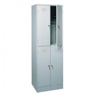 Метал.Мебель P_ШРМ24 шкаф д/одежды 4 дв. 600х500х1860