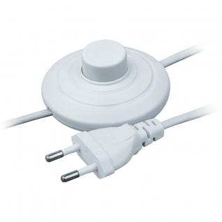 Шнур с электровилкой и напольным выключателем Белый Navigator 1.7м