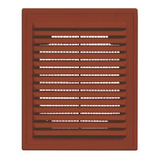 Решетка вентиляционная вытяжная 180*250 с рамкой коричневая серия ВР Виенто