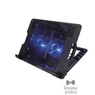 """Crown CROWN Подставка для ноутбука CMLS-940 (Black) 15,6"""", 2*Fan,blue light,2*USB"""