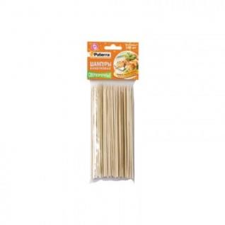 Набор шампуров для шашлыка, бамбук, 100 шт, d3мм* 200 мм, PATERRA 401-697