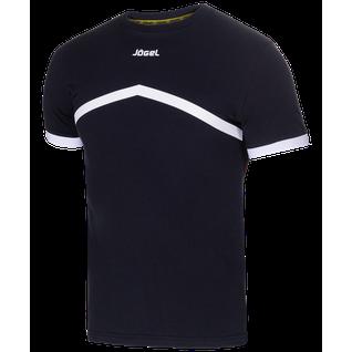 Футболка тренировочная Jögel Jct-1040-061, хлопок, черный/белый размер M