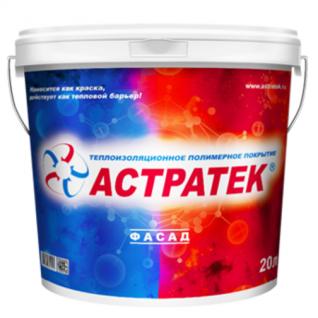 Теплоизоляционное полимерное покрытие АСТРАТЕК фасад 20 л