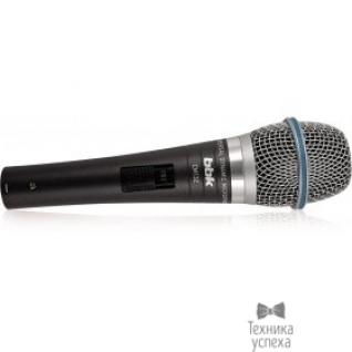 Bbk Микрофон BBK CM132 темно-серый унивирсазльный динамический, тип разъема Jack 6.3, материал корпуса металл