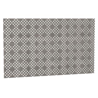 Декоративный экран Квартэк Рондо 600*600 (металлик)