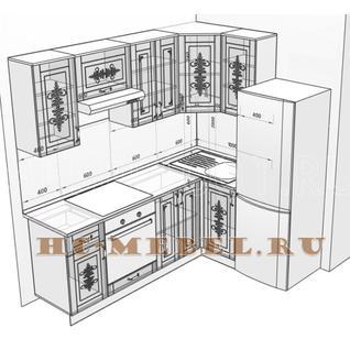 Кухня БЕЛАРУСЬ-9.8 модульная угловая, правая, левая