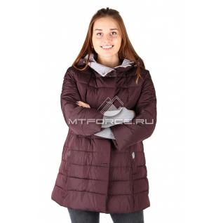 Куртка женская бордоврго цвета оптом 612B