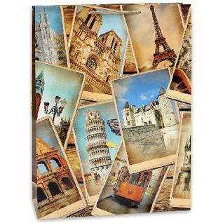 Пакет подарочный ламинированный Фотографии 32,4х44,5х10,2см арт.ПП-9151