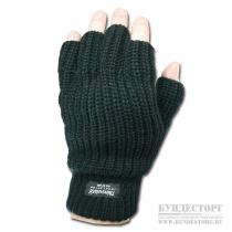 Made in Germany Перчатки с полуоткрытыми пальцами Thinsulate черного цвета
