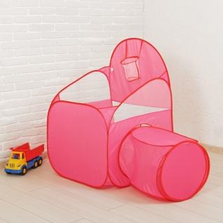 Сухой бассейн-манеж для шариков с тоннелем и корзинкой, розовый