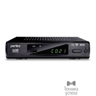 Perfeo Perfeo DVB-T2 приставка для цифрового TV, DolbyDigital, HDMI, внешний блок питания (PF-168-3-OUT)