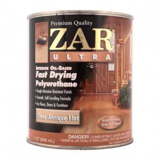 Лак полиуретановый ZAR ULTRA INTERIOR глянц., 0,946 л., в уп. 4 шт.