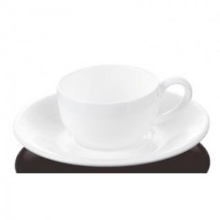 Кофейная пара Wilmax фарфоровая белая: чашка 100мл с блюдцем WL-993002