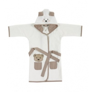 Kidboo Халат велюр/махра с капюшоном Медвежонок