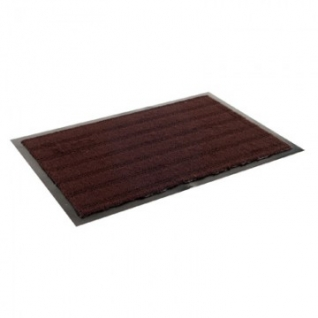 Ковер входной грязезащитный ворсовый на ПВХ основе(380х600х5мм,коричневый)