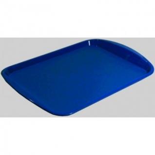 Поднос прямоугольный 470х330 мм синий, ПП