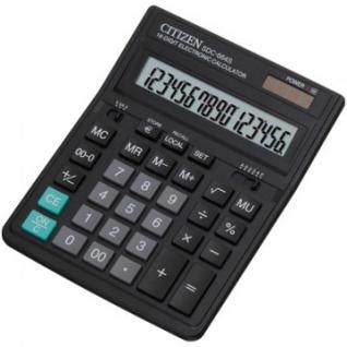 Калькулятор настольный ПОЛНОРАЗМЕРНЫЙ CITIZEN бухг. SDC-664S 16 разр. DP