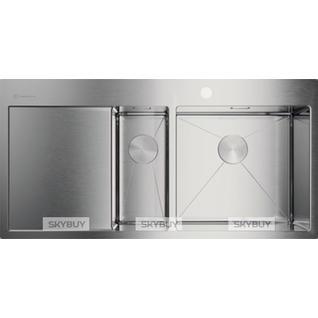Мойка кухонная Omoikiri Akisame 100-2-IN-R нержавеющая сталь