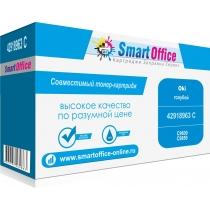 Картридж 43837135 C для OKI C9655 совместимый (голубой , 22000 стр.) 9521-01 Smart Graphics