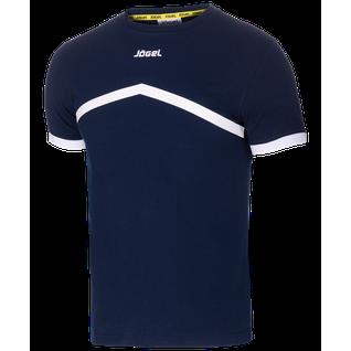 Футболка тренировочная детская Jögel Jct-1040-091, хлопок, темно-синий/белый, детская размер YL