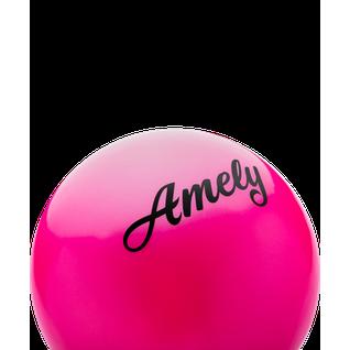 Мяч для художественной гимнастики Amely Agb-101, 15 см, розовый