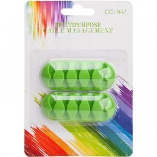 Держатель для проводов, 2 шт, зеленый, LP, 0L-00032159