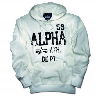 Alpha Industries Толстовка Alpha Industries Athletic Dept., цвет белый