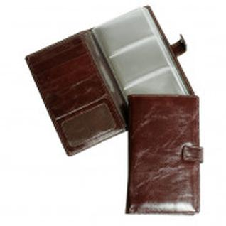 Визитница настольная,3 кармана,на 72 визитки,Grand,кож.коньяк,02-143-0823