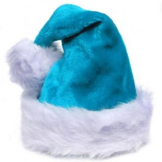 Шапка снегурочки синяя Китай