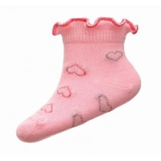 Носки из хлопка для девочек. Состав: 72% хлопок; 26% полиамид; 2% эластан, цвет  200 розовый