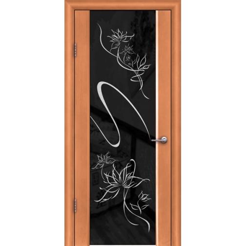 Дверь ульяновская шпонированная Альмека со стеклом триплекс 49378 2