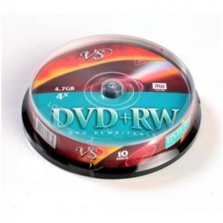 Носители информации VS DVD+RW 4,7GB 4x Cake/10