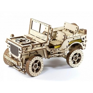 Сборные модели Wooden City Деревянный конструктор 3D Полноприводный автомобиль 4х4