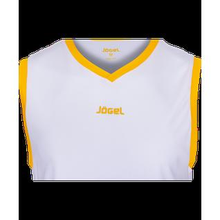 Майка баскетбольная Jögel Jbt-1020-014, белый/желтый размер S