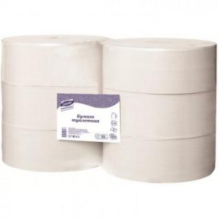 Бумага туалетная д/дисп Luscan Professional 1слнатур вторвтул525м 6рул/уп