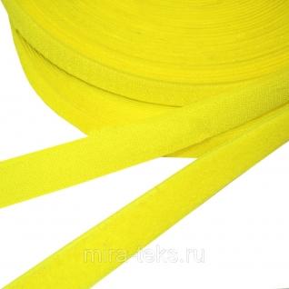 Липучка 25 мм ( лента контакт, велькро ) для одежды, цвет: желтый Miratex